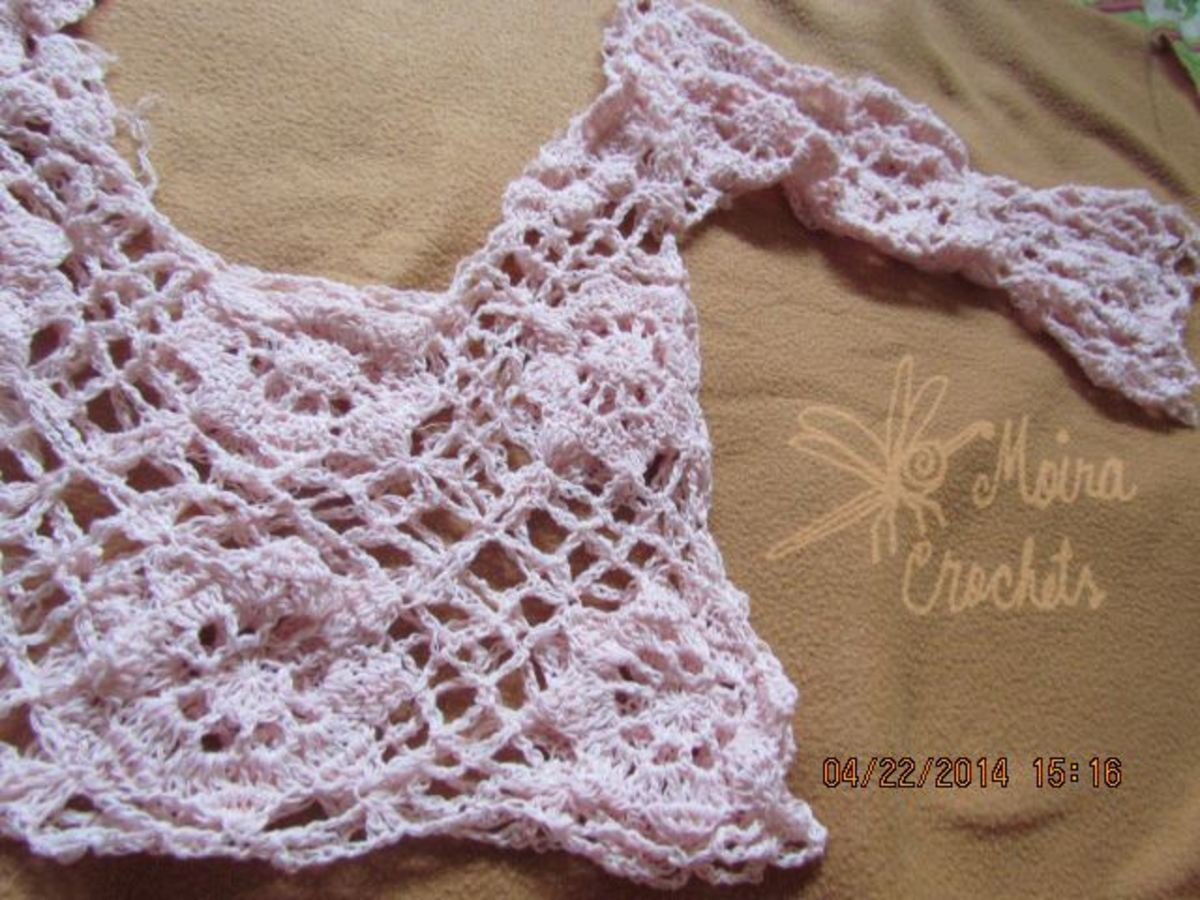This could also pass for a romantic crochet pullover.