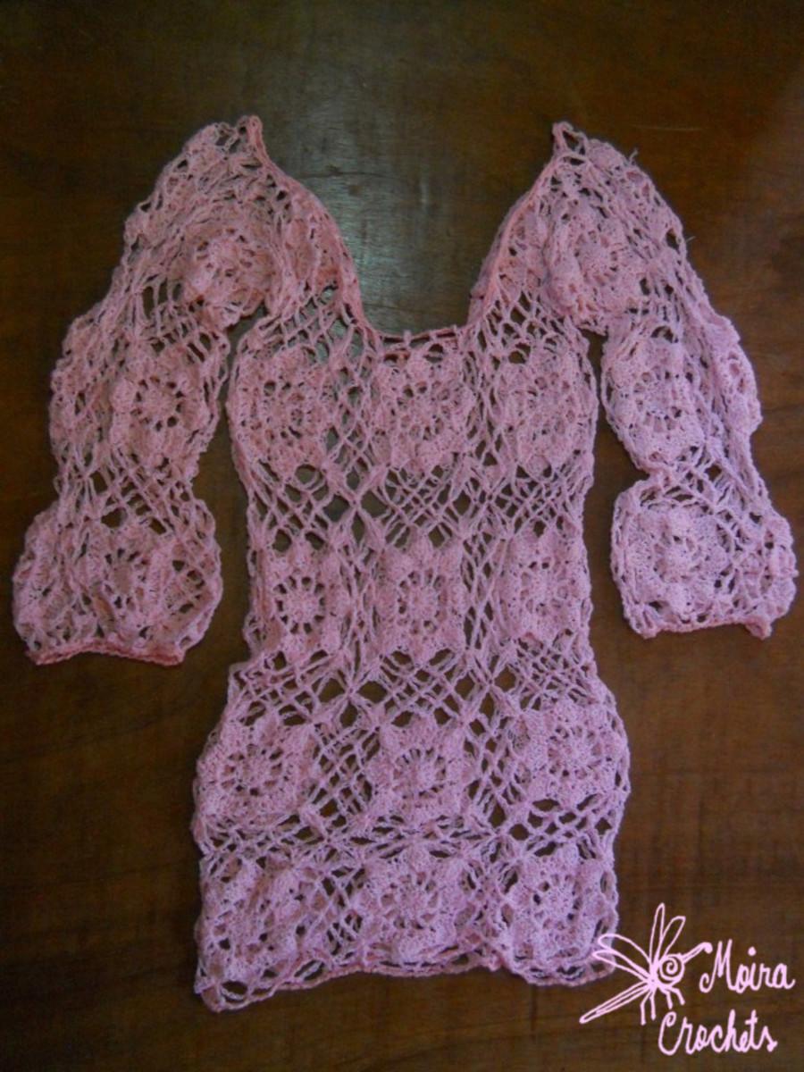 Eloiza Crochet Beach Cover Up