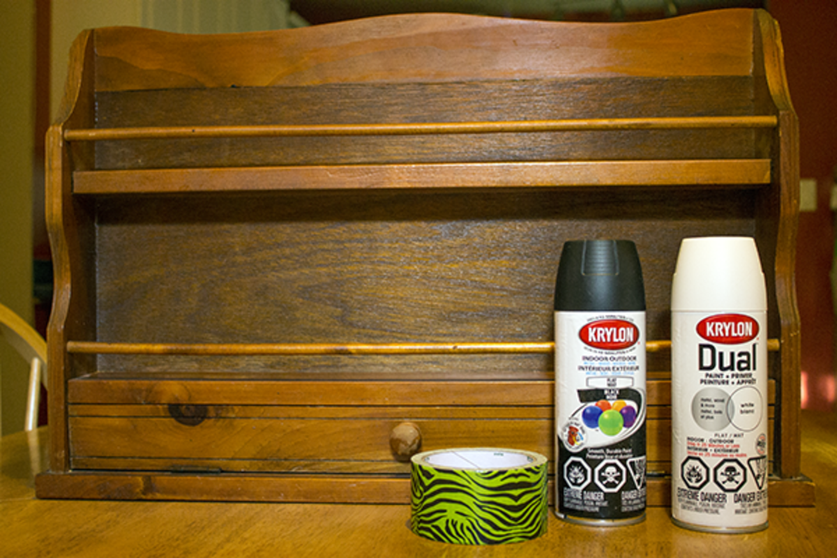 Upcycle An Old Spice Rack And Turn It Into A Stylish Nail Polish Rack With A Little Paint And Duck Tape