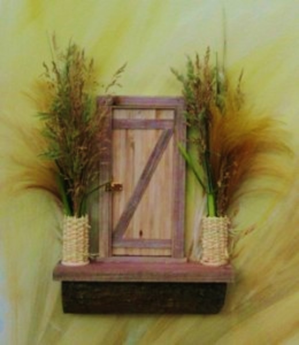 One of the famous Fairy Doors of Ann Arbor, featured on the Urban Fairies website.