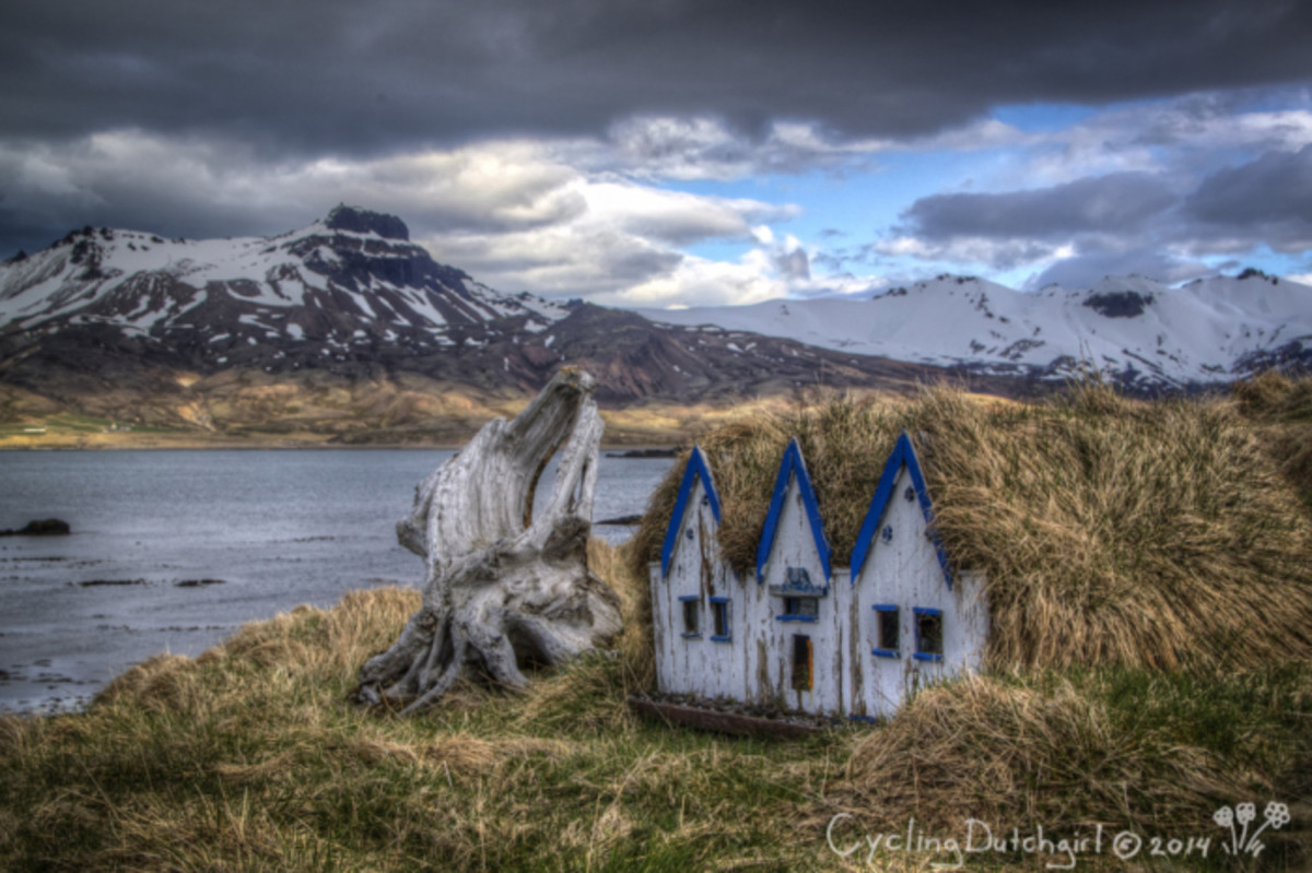 Elf houses in Iceland. Photo by the Cycling Dutch Girl, used with permission.