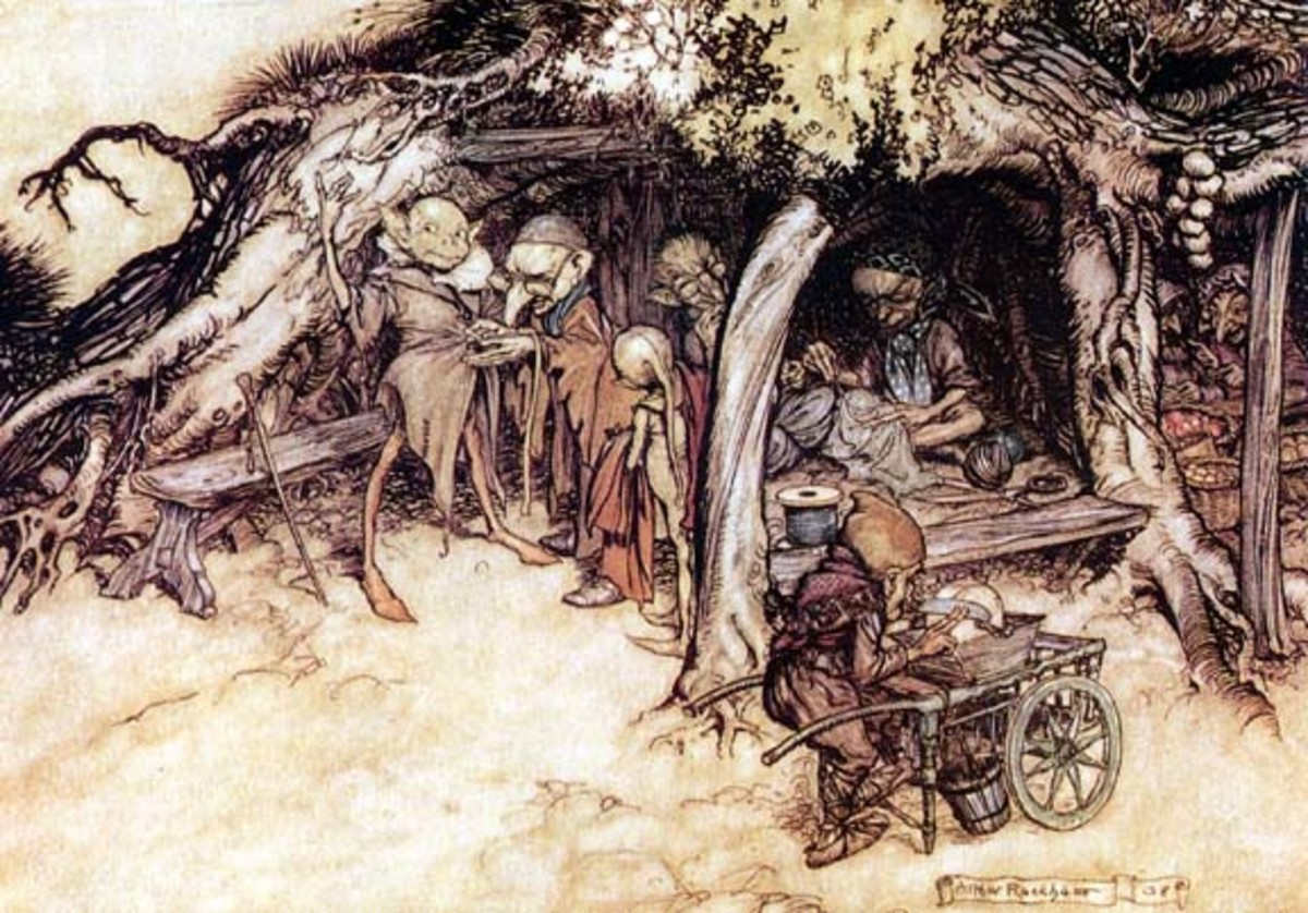Elf art by Arthur Rackham