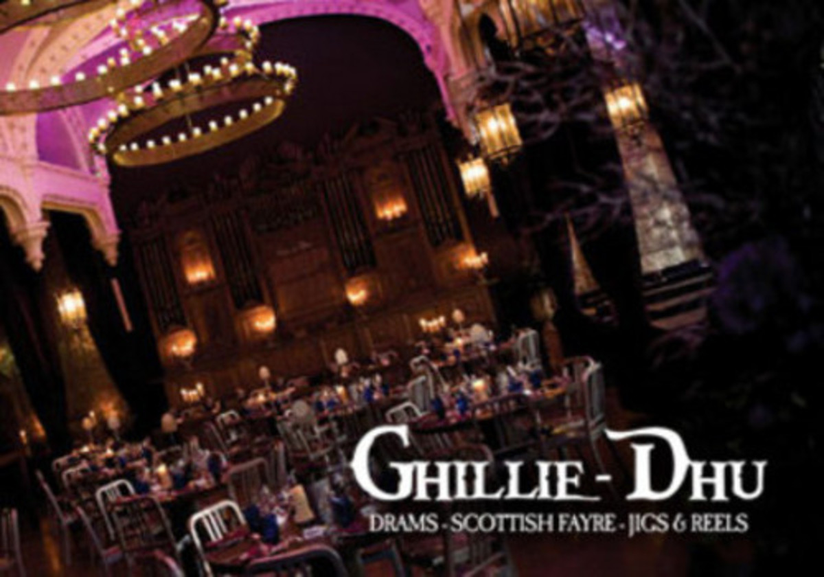 Ghillie Dhu Scottish pub and restaurant in Edinburgh, Scotland.