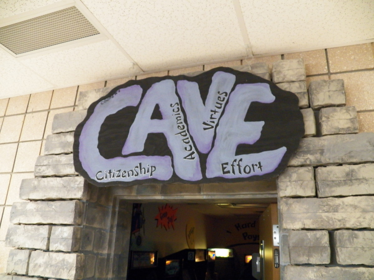 The Cave:  a favorite place for kids at school