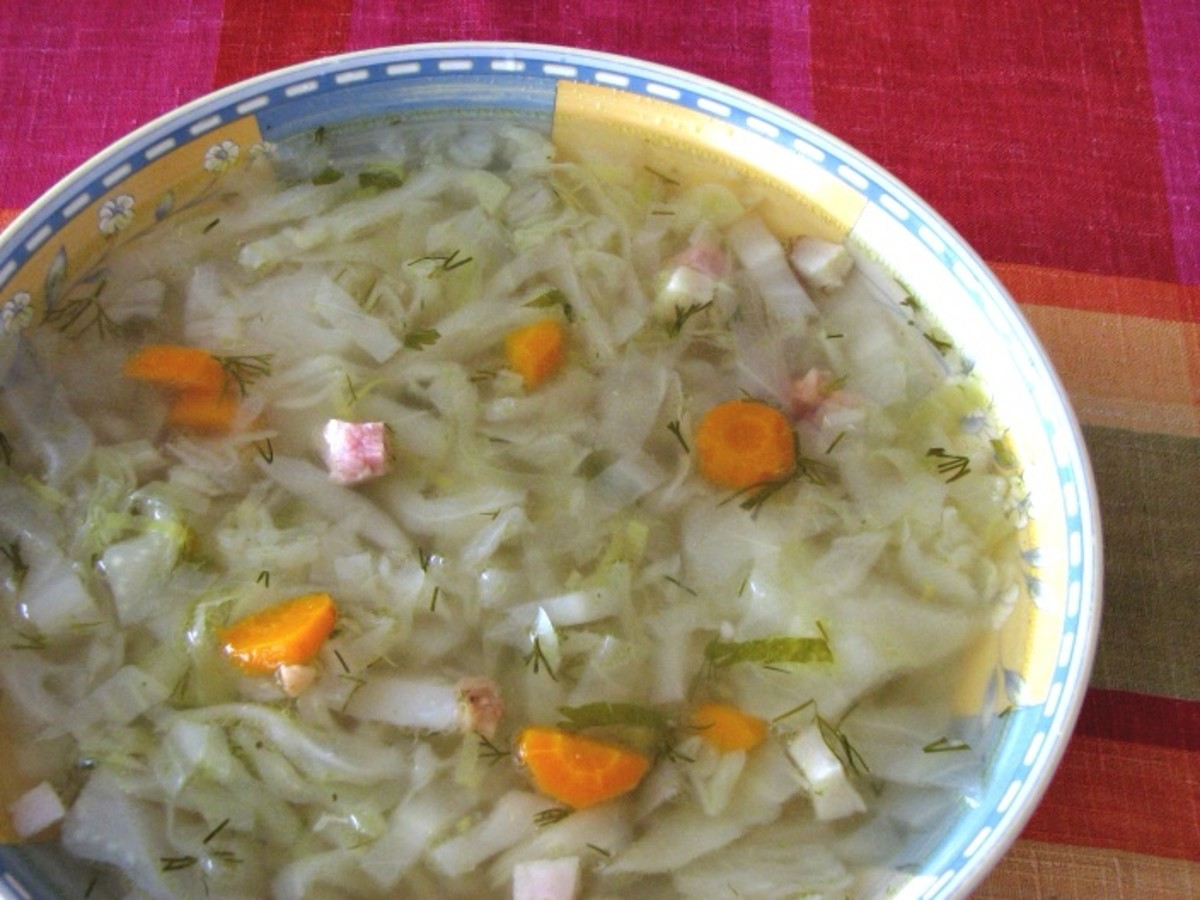 Vegetable soup will keep you going