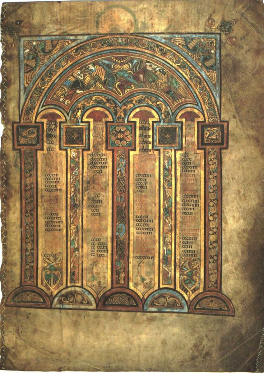 One of the Canon pages from the Book of Kells