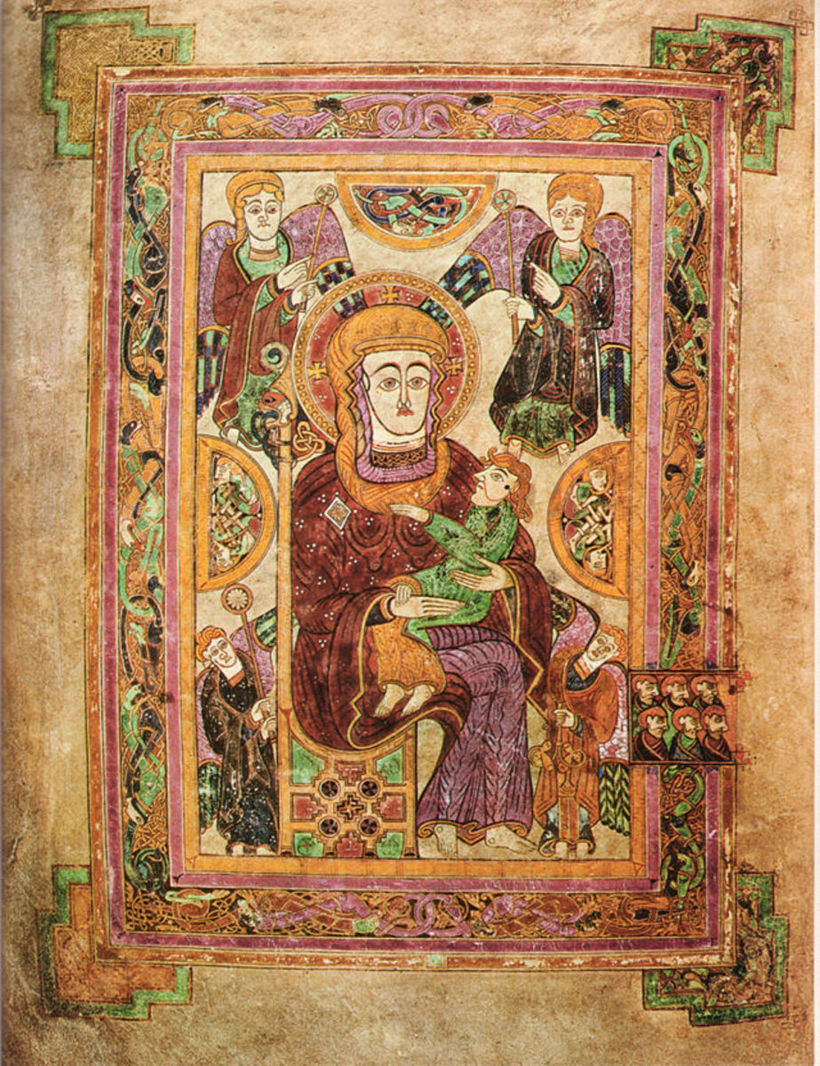 Folio 7.  Image of Virgin and Child.  The oldest image of the Virgin Mary in a Western manuscript.