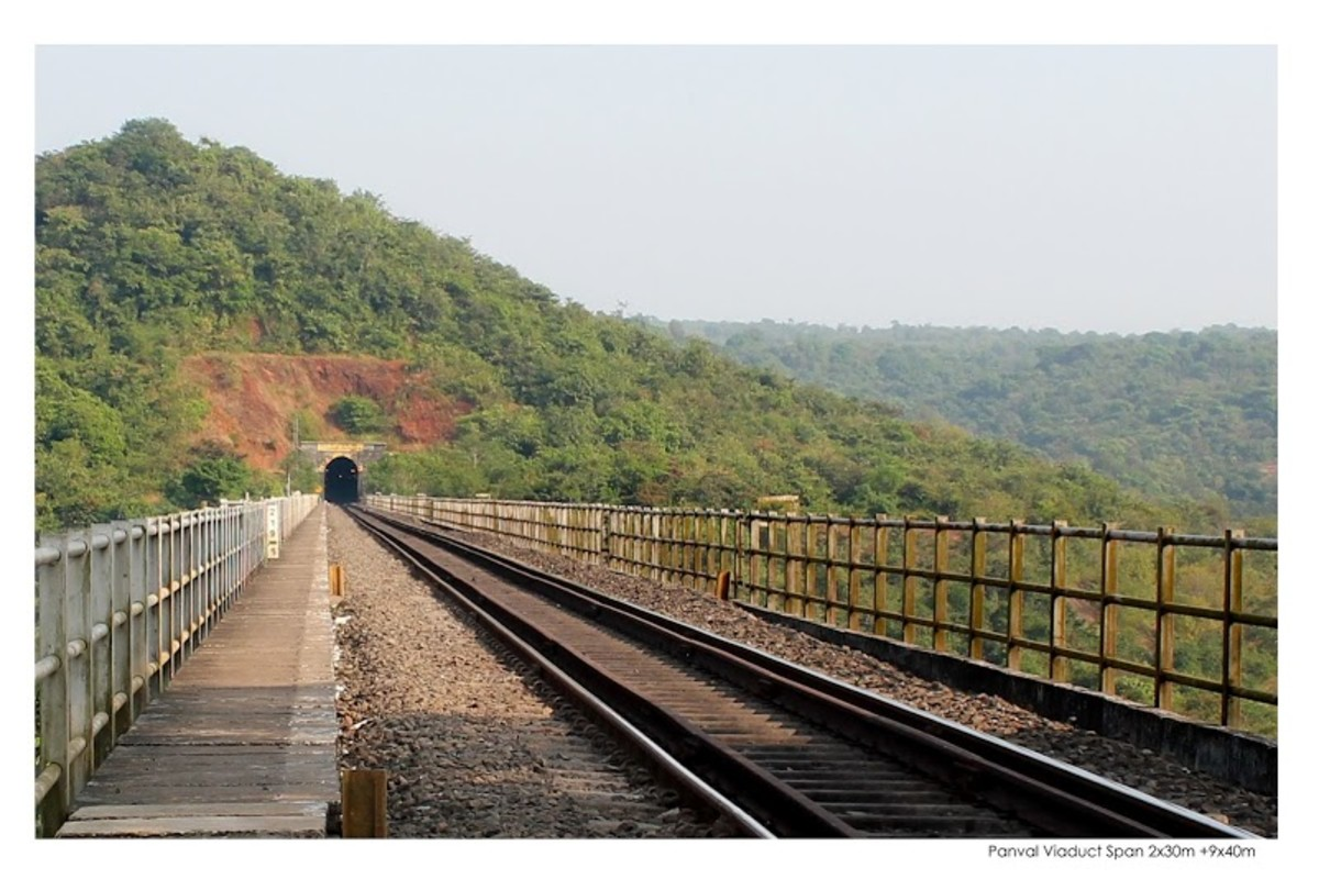 Watch the tunnel at the extreme end. Konkan Rail route has many such tunnels, some are very long.