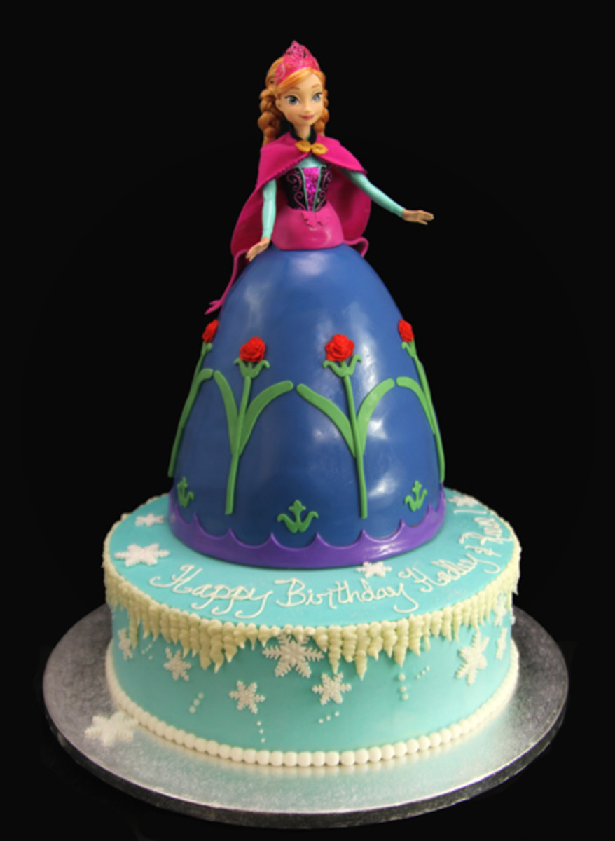 Princess Anna Birthday Cake