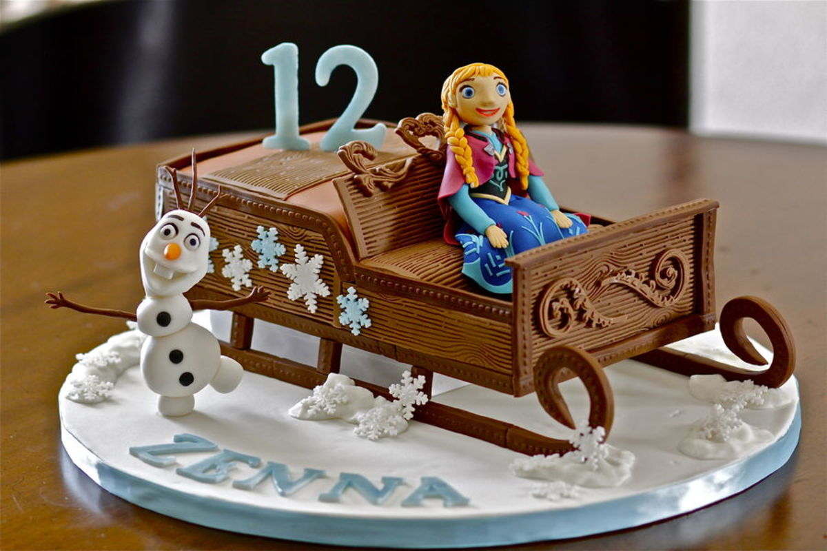 Princess Anna and Olaf Birthday Cake