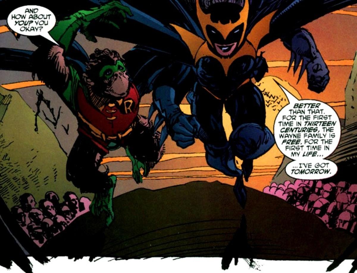 Rodney as Robin and Brenna Wayne as Batwoman
