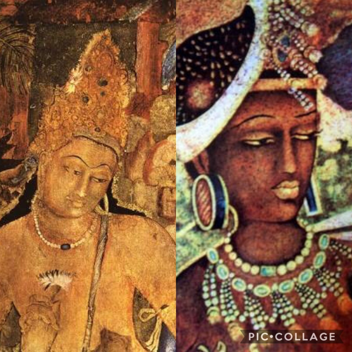 Padma Paani And Vajrapaani -Ajanta caves paintings
