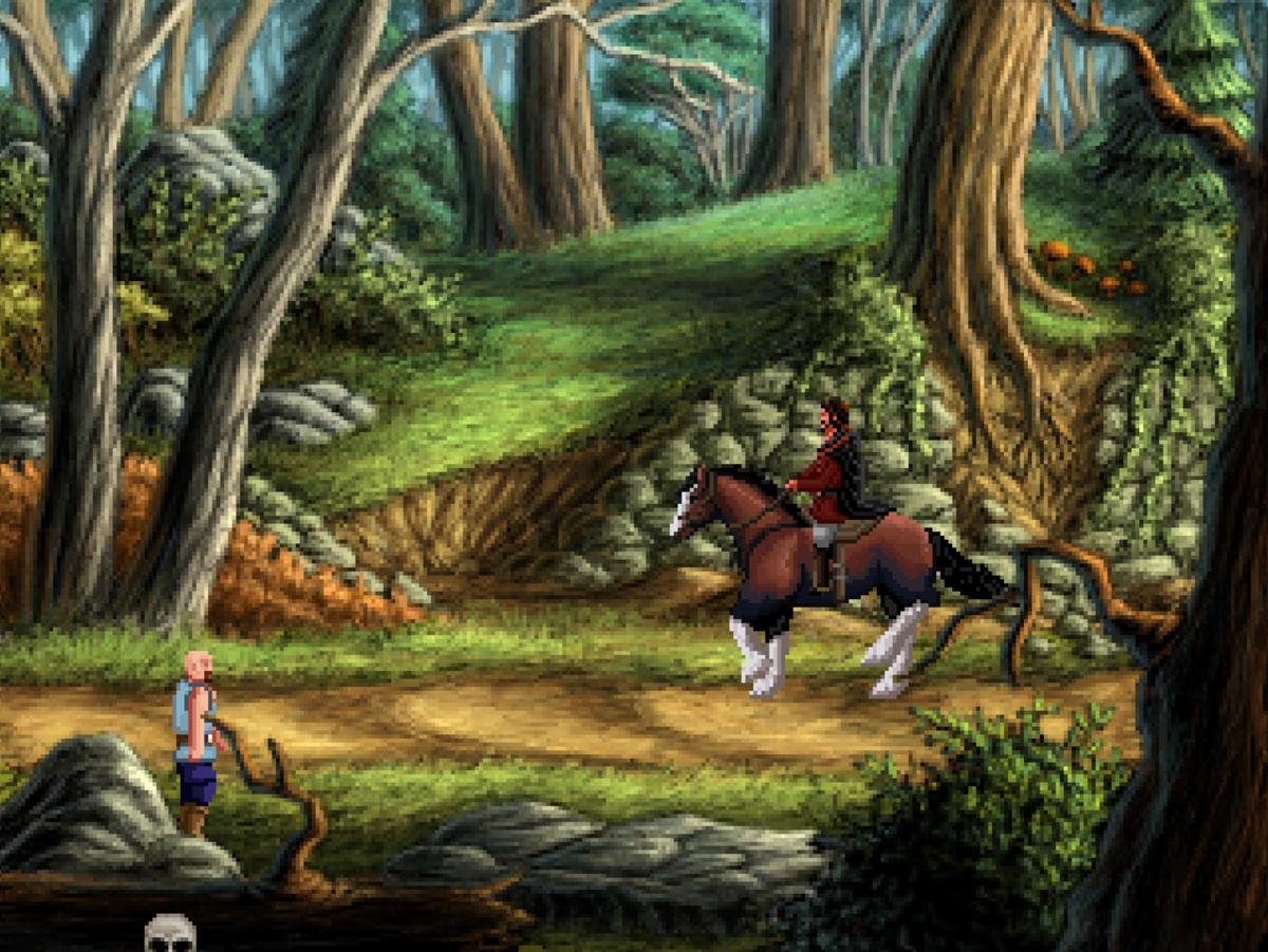 Roehm returns Kurdt's horse, Mastadon, to his rightful owner in Quest for Infamy.