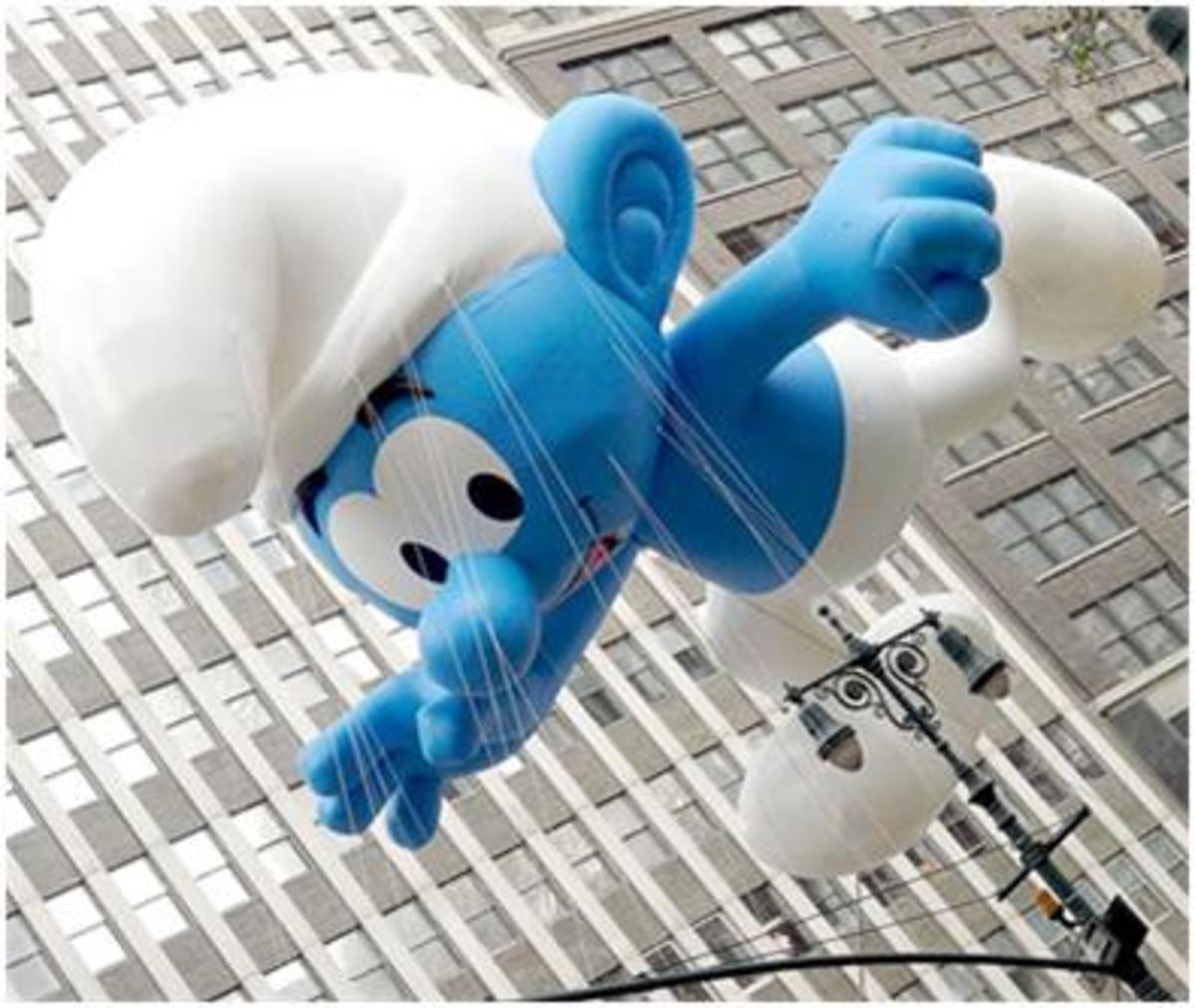 Flying Smurf!!!