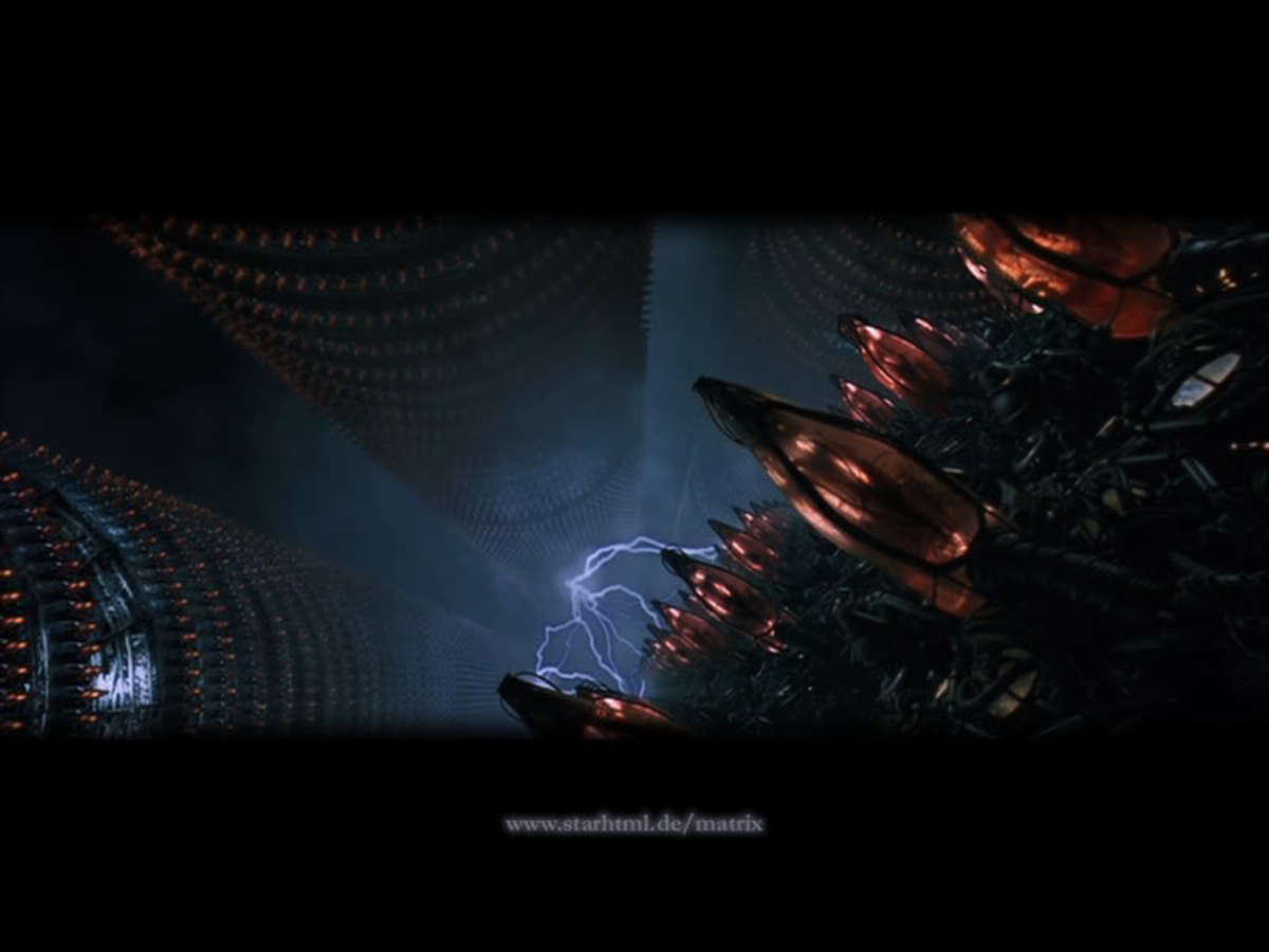 The tank scene declares the esoteric message of the body inside the tank connected to the Matrix within the hidden realm distanced from the Central Matrix.