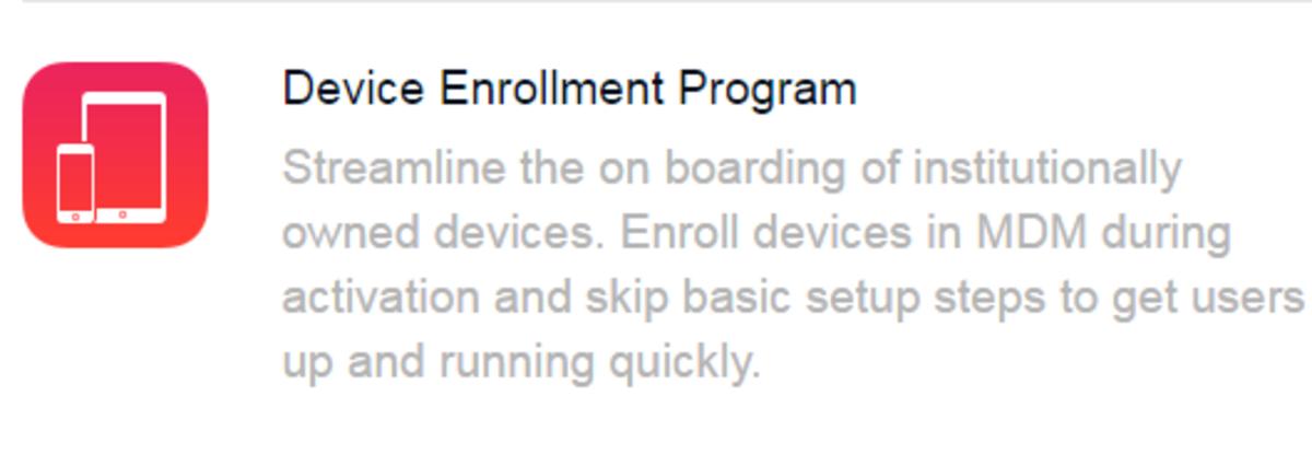 Device Enrollment Program