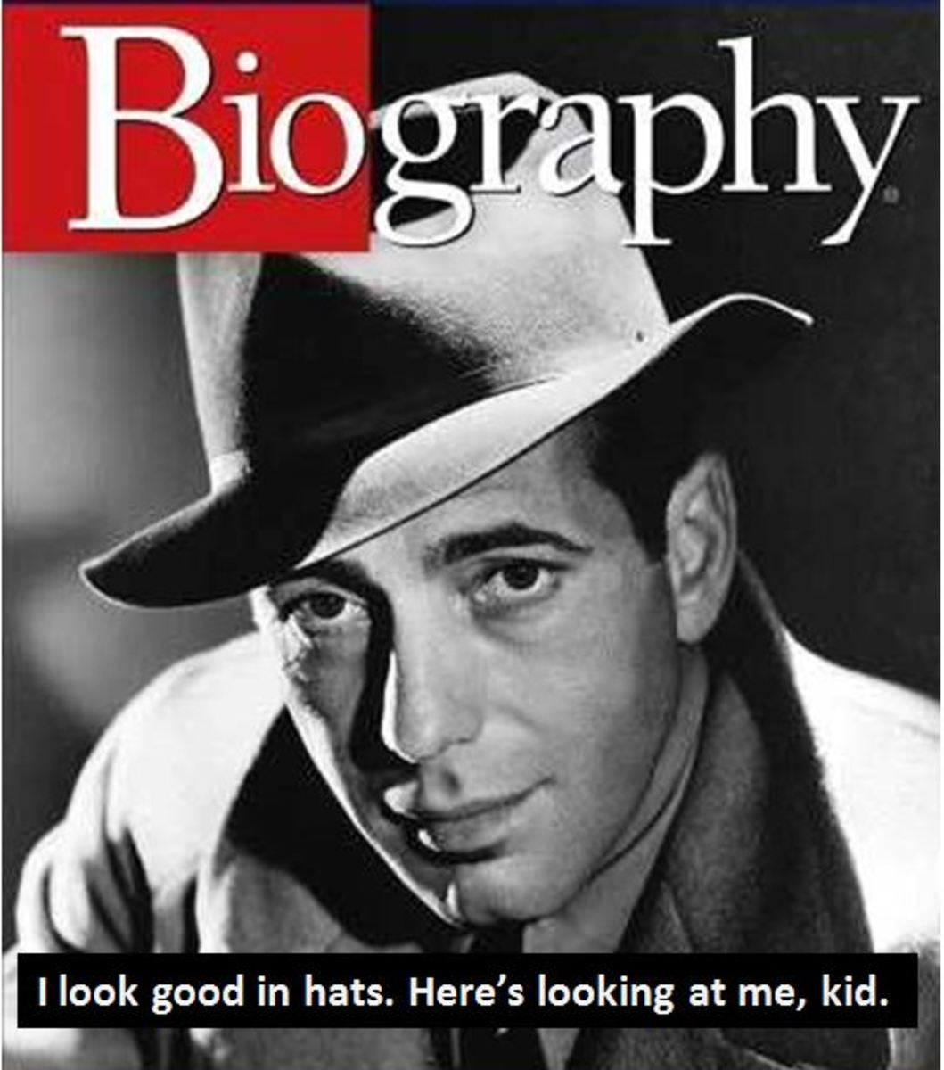 Humphrey Bogart on Biography Cover