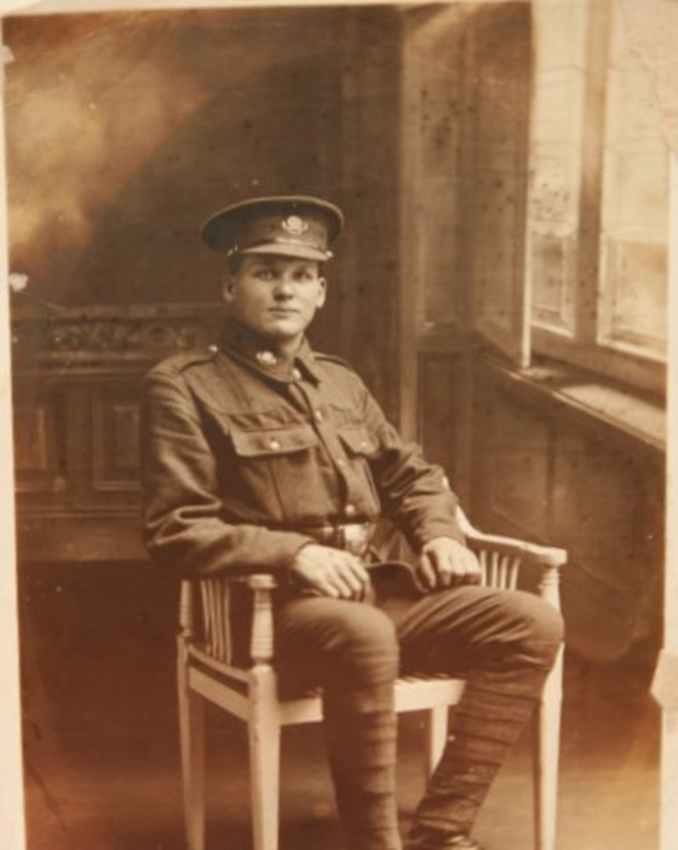 No 104836 Pte George Barker, RAMC - my grandfather