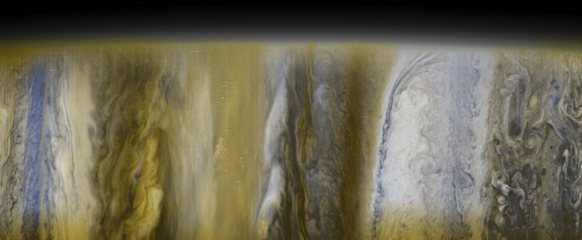 True-color photo of the giant planet Jupiter by New Horizons Spacecraft. [Feb. 28, 2007]