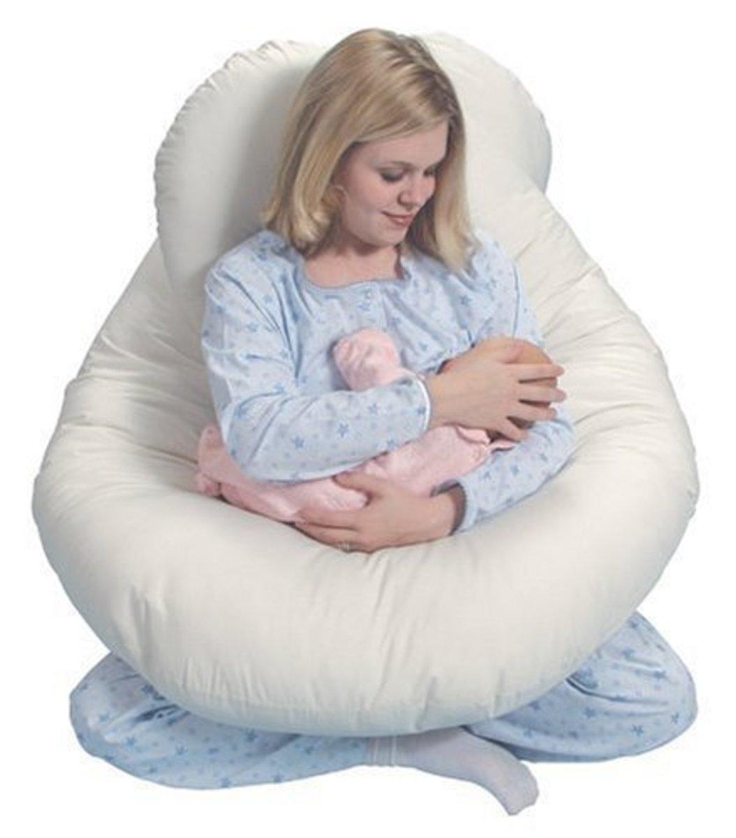 Some body pillows double as nursing pillows.