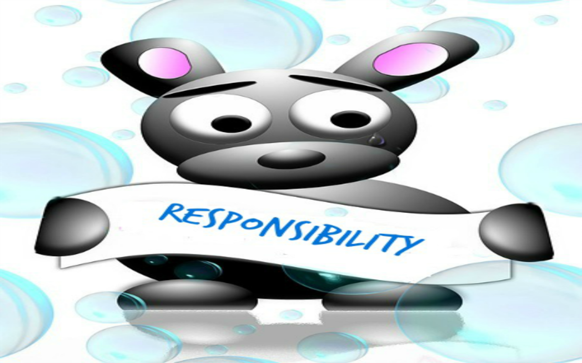 The Apology Puppy says to take responsibility.