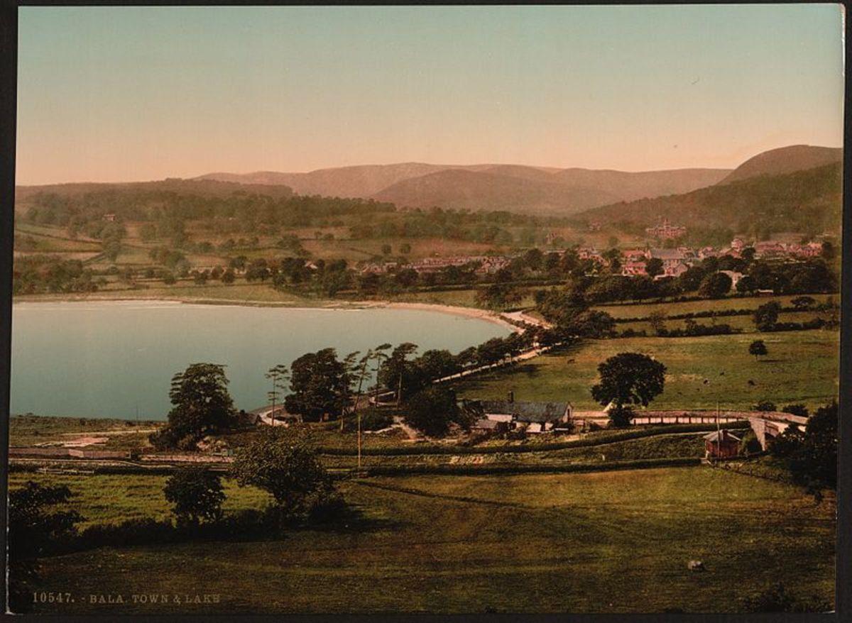 Bala town and lake, circa 1895