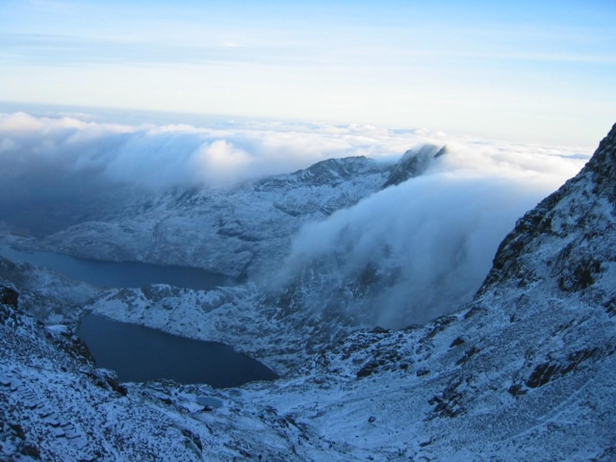 Llyn Glaslyn (seen in foreground), Snowdonia