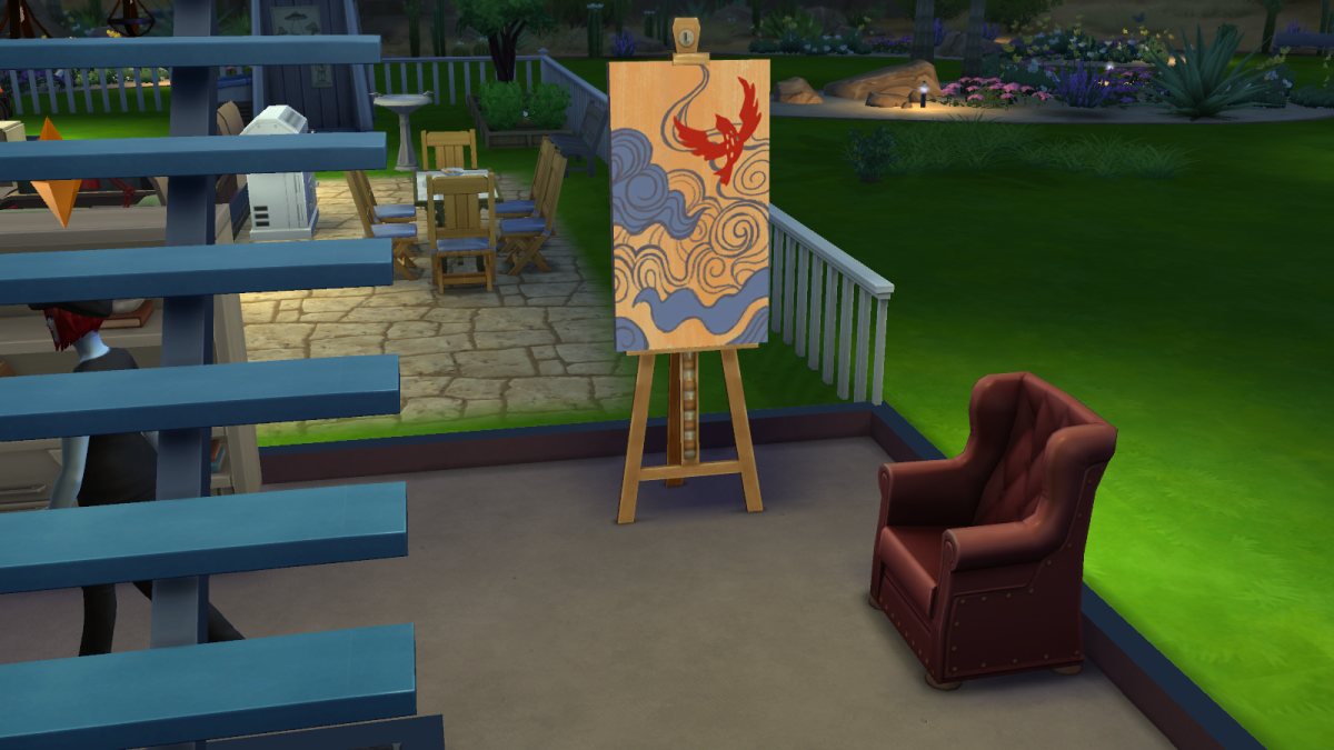 A well-crafted masterpiece painting in The Sims 4.