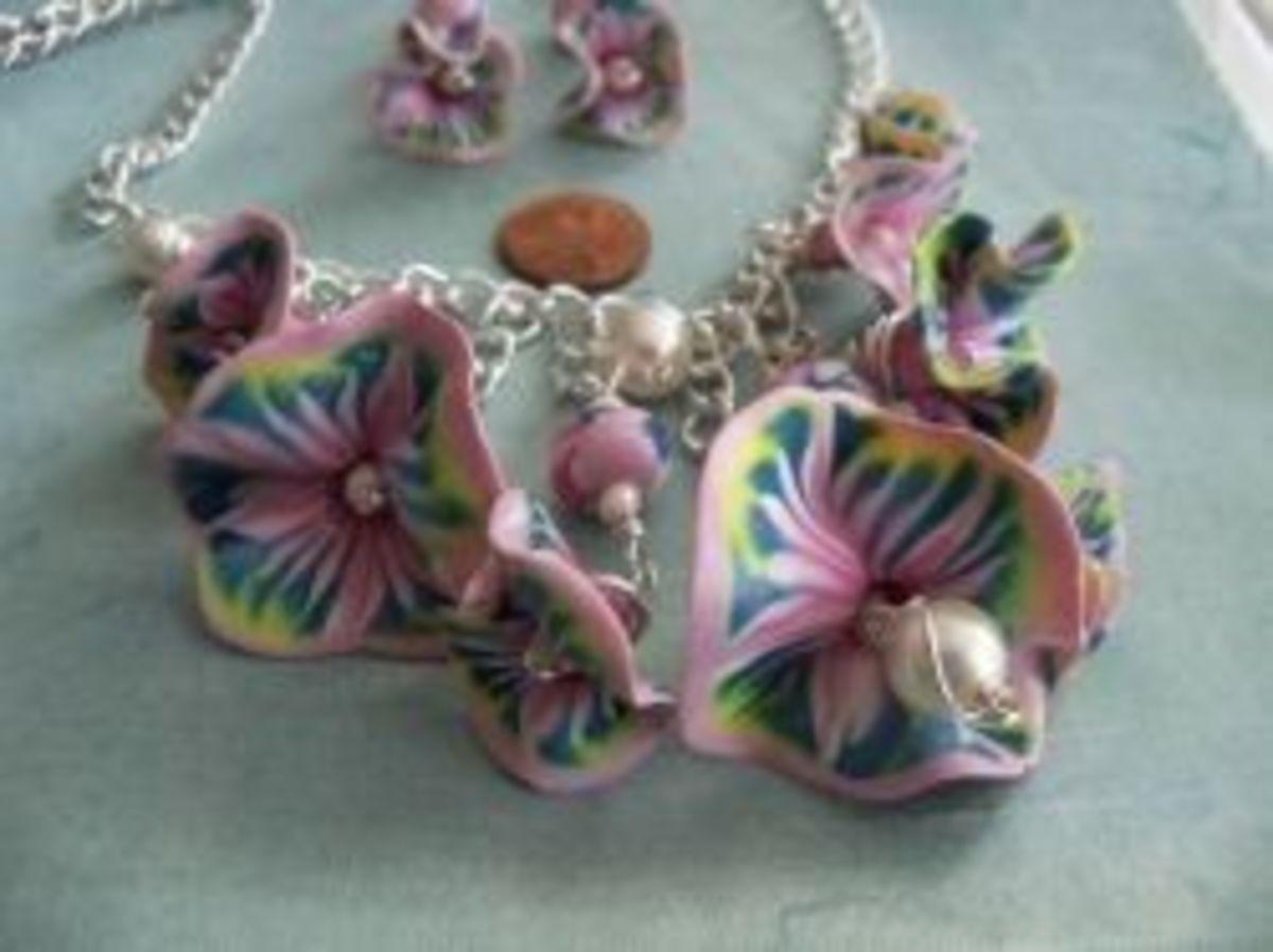 Polymer Clay Jewelry - spliced cane