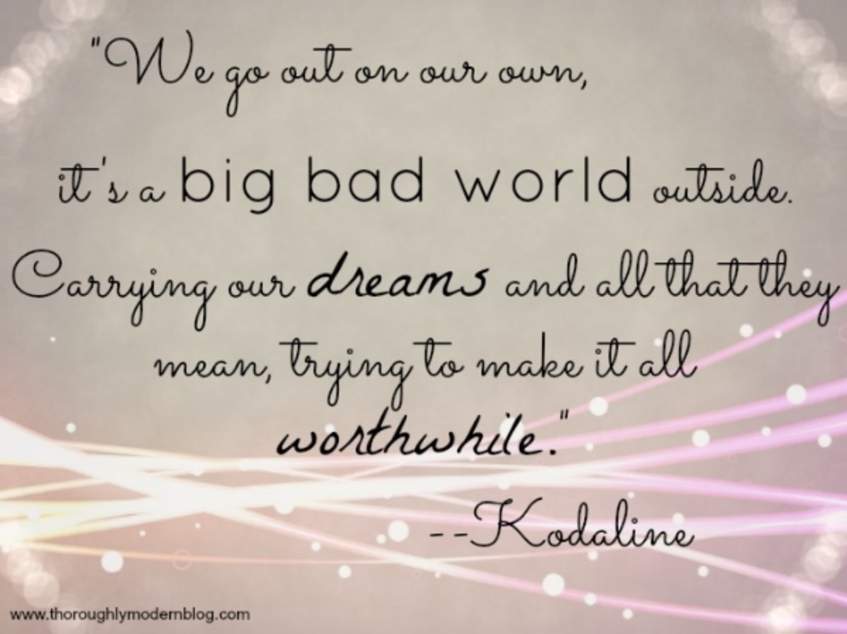 A piece of lyrics from Kodaline's Big Bad World