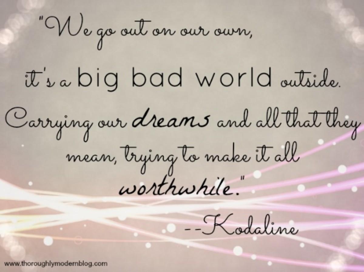A piece of lyrics from Kodaline's Big Bad World