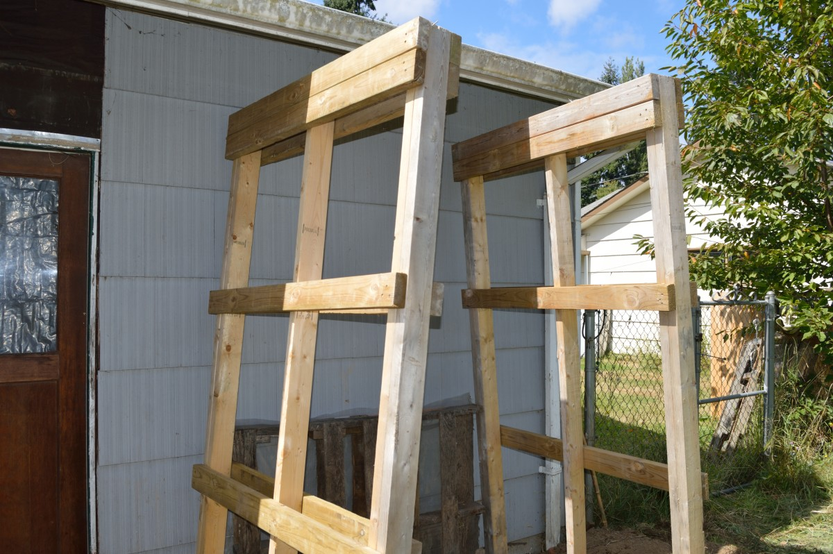 Beginning construction on a 4'x8' toolshed