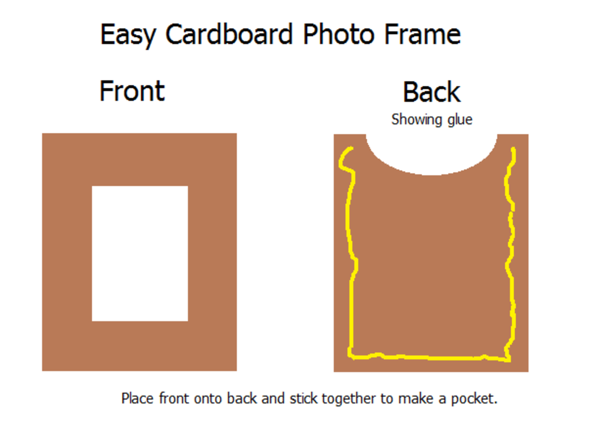 How to make a simple cardboard photo frame.