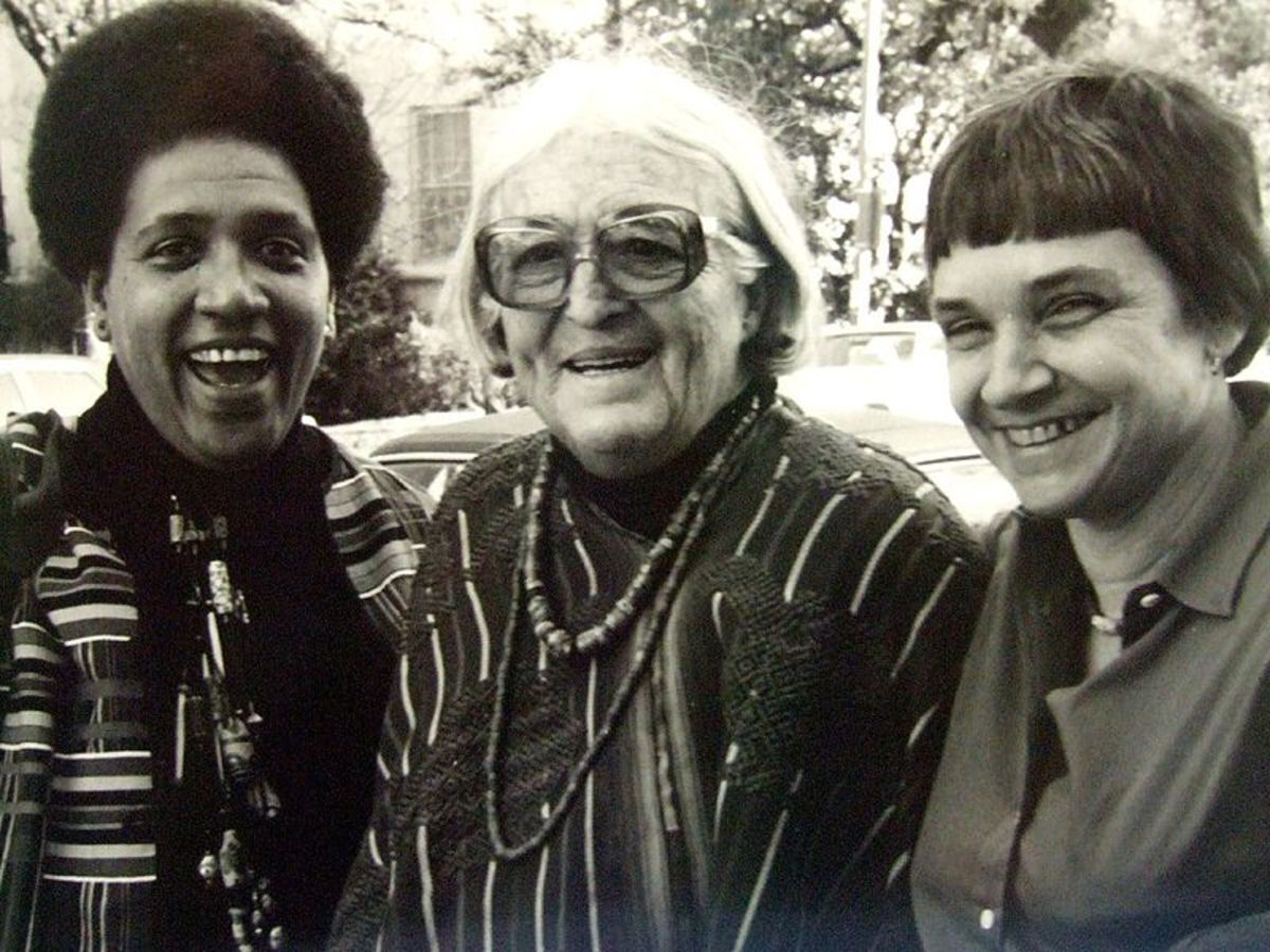 Audre Lorde on the left.