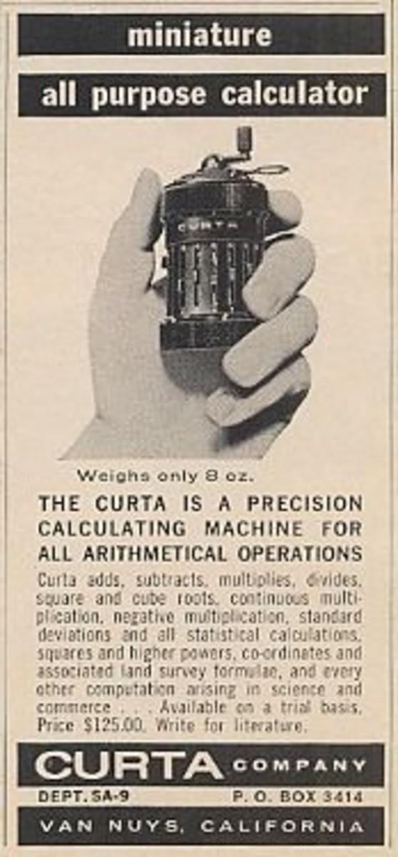 1969 Curta Mechanical Calculator Print Ad