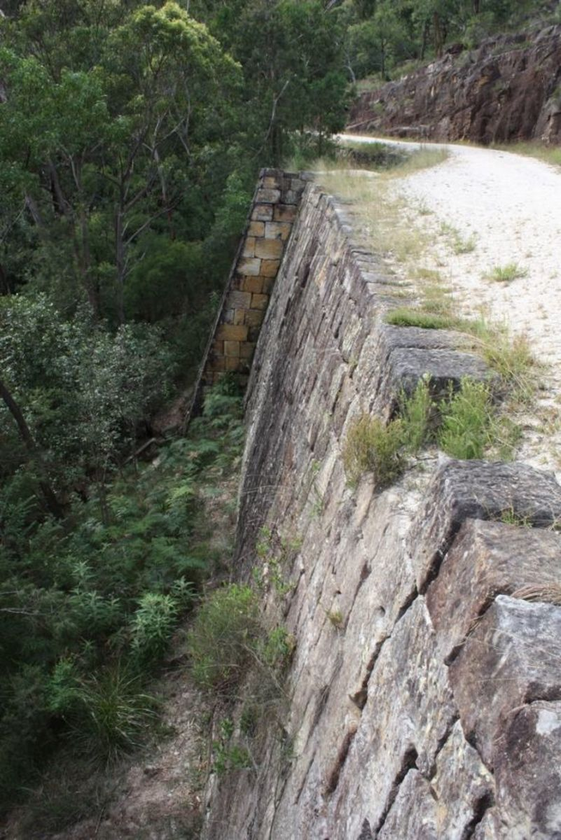 convict built wall supporting the Great North Road, near Wysemans Ferry, New South Wales.