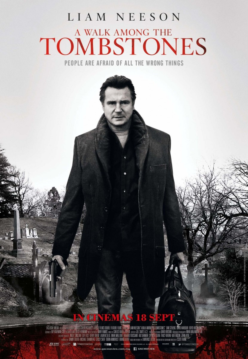 Theatrical poster for A Walk Among the Tombstones