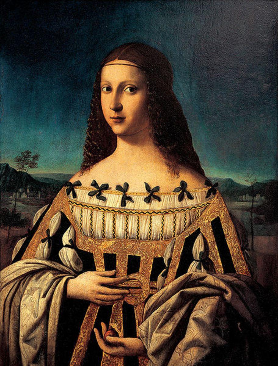 Bartolomeo Veneto, Saint Beatrice II d'Este depicted as Lucrezia Borgia (?) (a. 1506), Snite Museum of Arts, Indiana