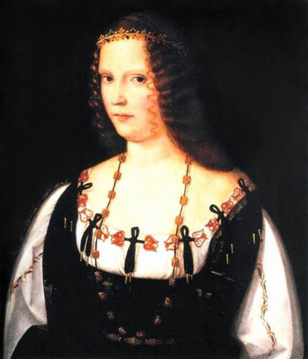 Bartolomeo Veneto, Presumed Portrait of Lucrezia Borgia (1506 - 1508), London National Gallery