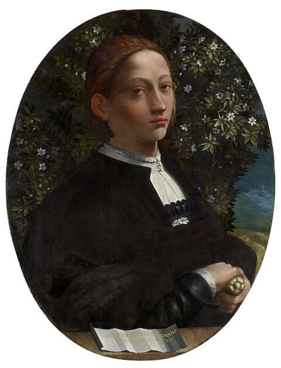 Dosso Dossi, Portrait of Lucrezia Borgia (?) (a. 1515), Victoria National Gallery Melbourne