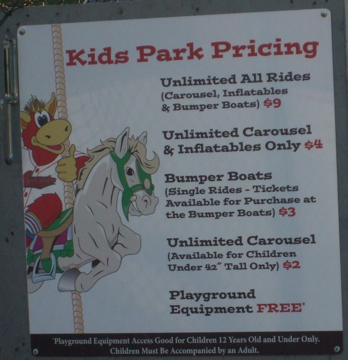 Entrance to the Kids Park at Clipper Stadium, Lancaster, PA.