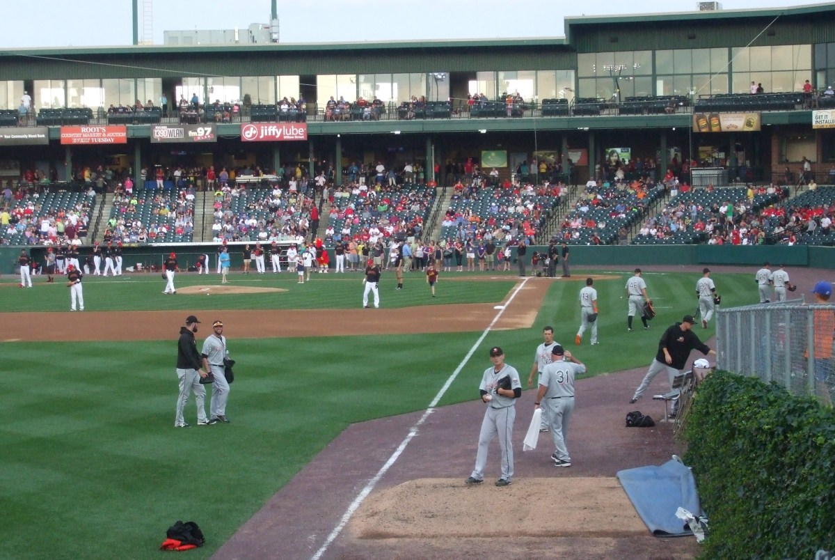 A home game for the Lancaster Barnstormers minor league baseball team. (Pennsylvania)