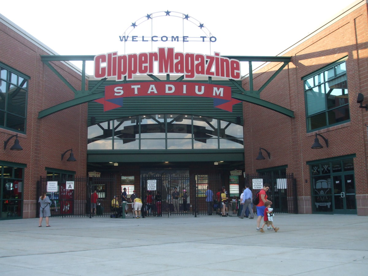 Entrance to the Clipper Stadium, home field of the Lancaster Barnstormers minor league baseball team.