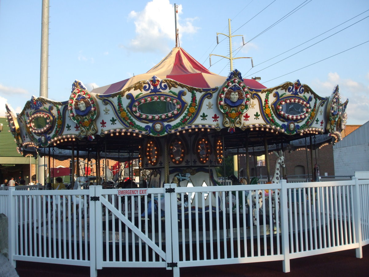 A just-right-sized merry-go-round.