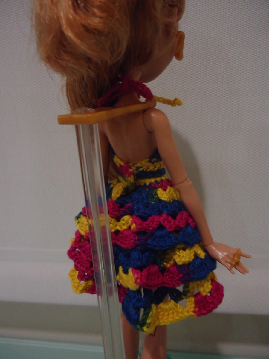 Back view of the Ever After High Ruffled Cocktail Dress