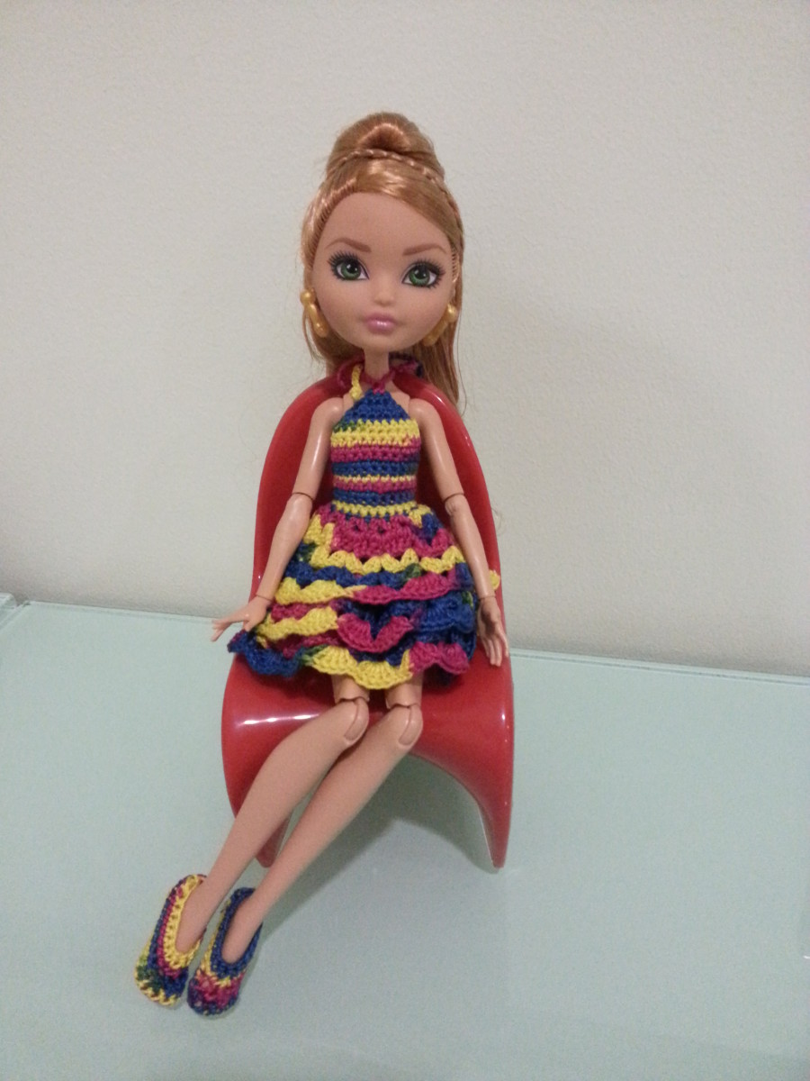 Ever After High Ruffled Cocktail Dress with Ballet Flats