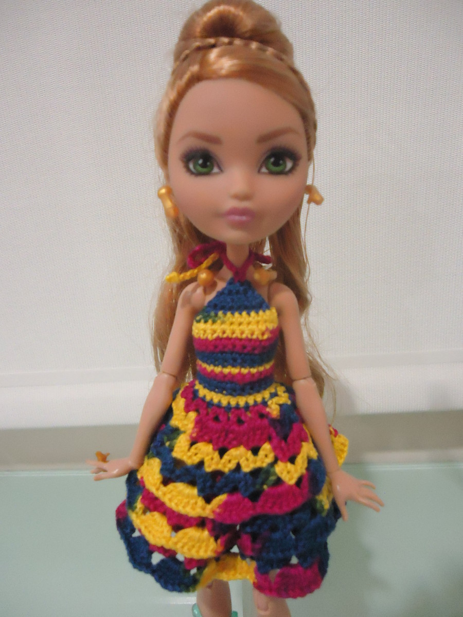 Closer view of the Ever After High Ruffled Cocktail Dress