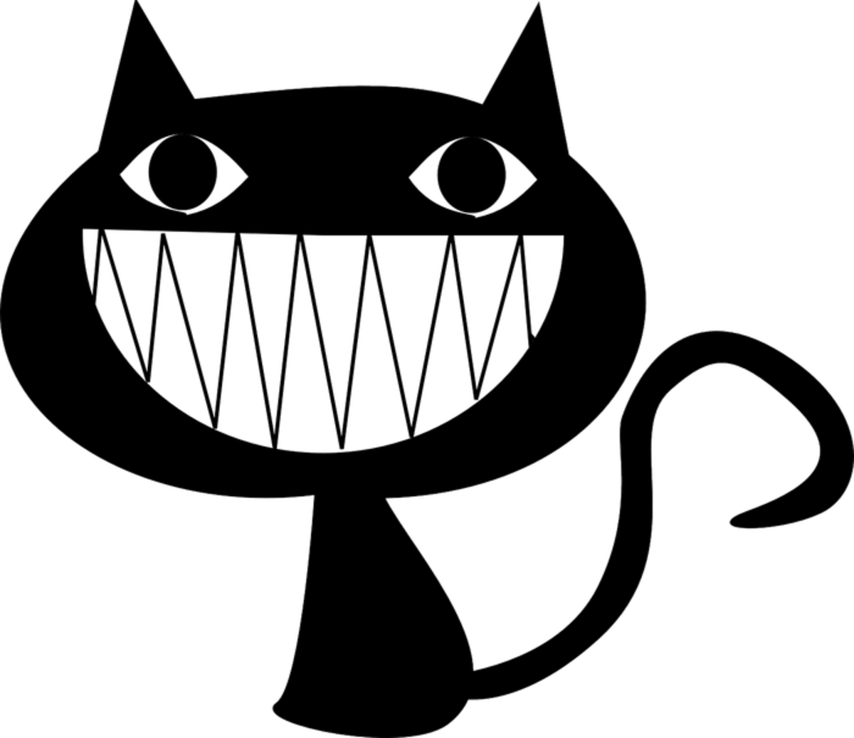 Black Cheshire Cat