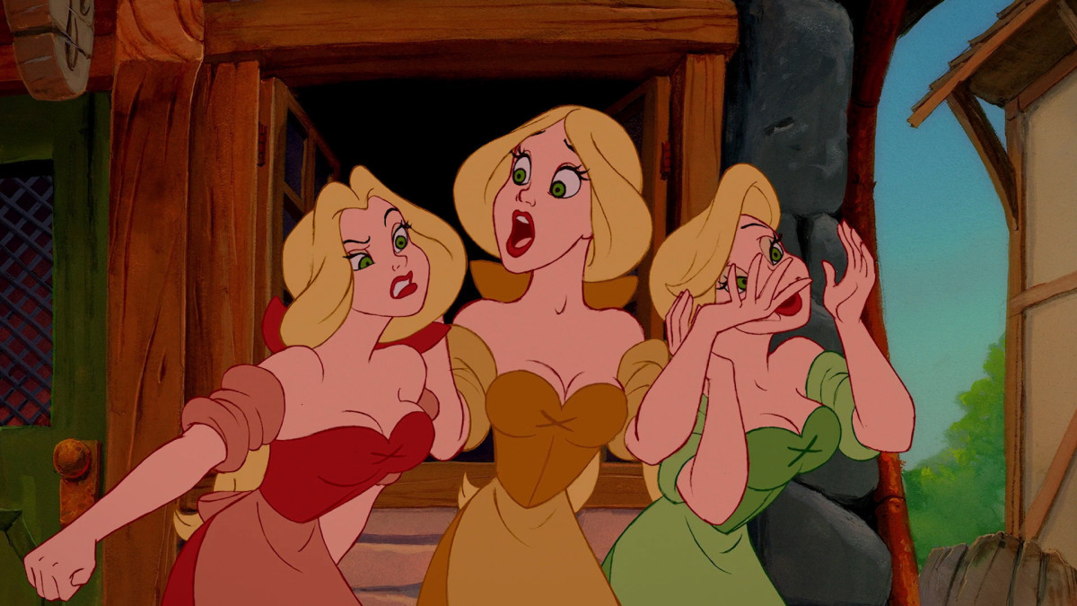Gaston protected Belle from these Girls, and yes, the mockery of the Village/Town