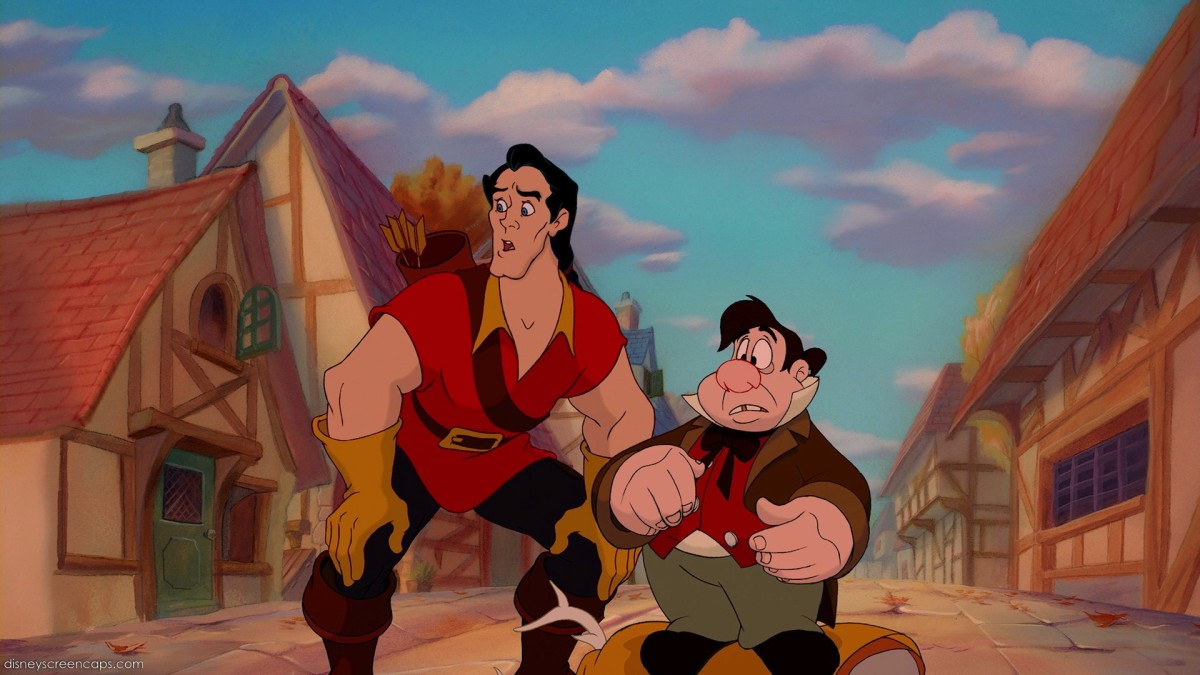 Gaston feeling the need to protect Belle from the Girls, and yes, the mockery of the Village/Town